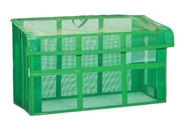 ####u.テラモト 環境美化用品【DS-261-115-1】自立ゴミ枠2 折りたたみ式 緑 1500×600×880