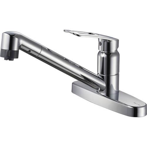 三栄水栓/SANEI【K6711MEK-13】シングル台付切替シャワー混合栓 寒冷地用
