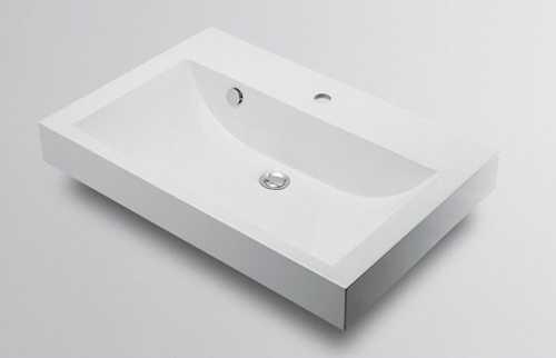 カクダイ【493-070-750】角型洗面器//1ホール