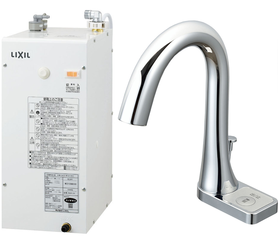 INAX/LIXIL 小型電気温水器【EHMN-CA6S9-AM211V1】ゆプラス INAX/LIXIL 自動水栓一体型6L ポップアップあり グースネックタイプ 手動スイッチ付, チキチキ電子:60b9c1c9 --- sunward.msk.ru