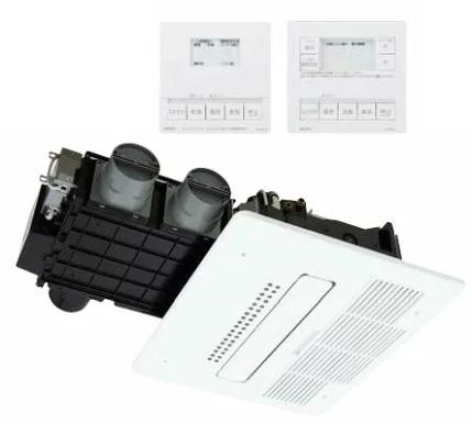###ノーリツ【BDV-M4105AUKNT-J3-BL】温水式浴室暖房乾燥機 天井カセット形 3室換気 24h換気 暖房能力4.1kW 受注生産