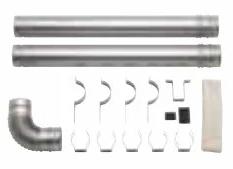 サンポット 部材【FB-4S6】FF-288CTS用給排気筒 延長セット(40cm延長)