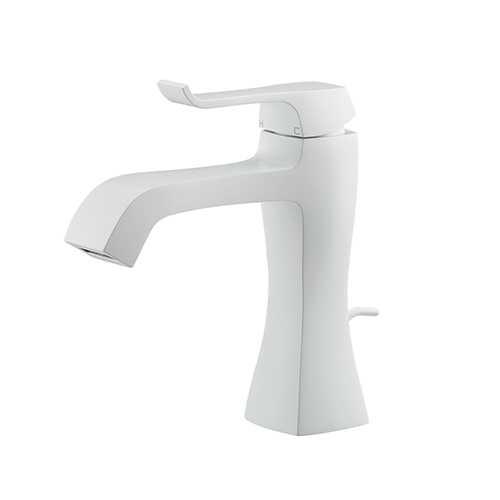 カクダイ【183-161GN-W】シングルレバー混合栓//ホワイト