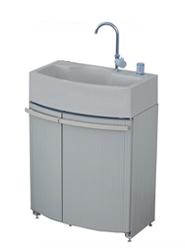 タキロンシーアイ 屋外シンク【306713】腰高収納付き屋外シンク ガーデンドレッサー 単水栓ユニット GDT-2GR グレー
