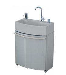 タキロンシーアイ 屋外シンク【306737】腰高収納付き屋外シンク ガーデンドレッサー 混合栓ユニット GDT-3GR グレー