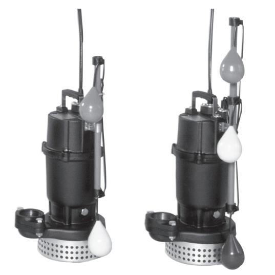 エバラ/荏原【50DSA6.4+50DSJ6.4】汚水用水中ポンプ DSA型+DSJ型セット 三相 60Hz