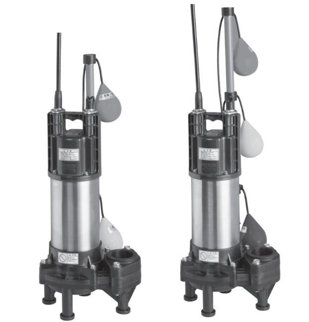 エバラ/荏原【50DWVA6.75B+50DWVJ6.75B】樹脂製汚水・汚物用水中ポンプ DWVA型+DWVJ型セット 三相 60Hz