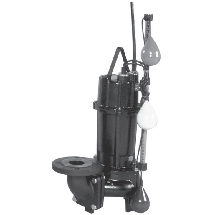 エバラ/荏原【65DV2J6.75A】汚水用ボルテックス水中ポンプ DV2J型 自動交互内蔵型 三相 60Hz