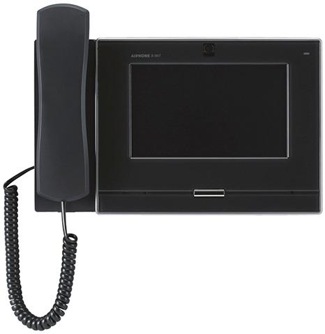 ###βアイホン【IX-MV7-HB】7型モニター付インターホン端末 電話機付 黒 IPネットワーク対応インターホンIXシステム 受注生産約2ヶ月