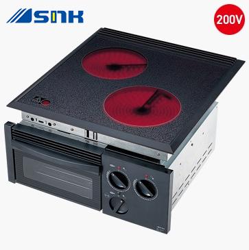 三化工業【SRH-252G】2口ラジエントヒーター