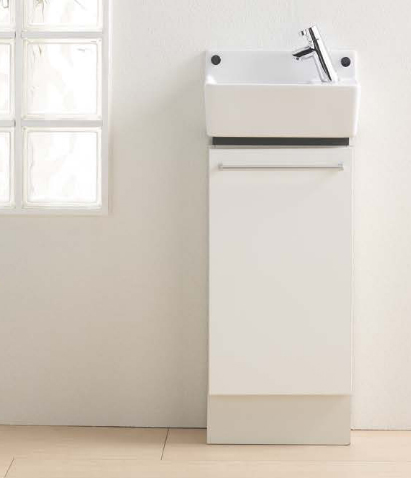 Ю###ジャニス/Janis【LTCK350R】手洗キャビ キャビネット付手洗器 床給水