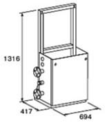 ###♪パーパス 給湯器 部材【MD-S20-32C】片側2台掛け台セット 主配管・片側閉塞タイプ