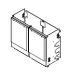 ###♪パーパス 給湯器 部材【MDK-SC21-50】片側2台用配管カバー