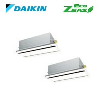 ###ダイキン 業務用エアコン【SZRG160BFD】[分岐管セット] フレッシュホワイト 天井埋込カセット形 ツイン同時 6馬力 ワイヤード 三相200V Eco ZEAS