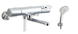 ▽INAX/LIXIL【BF-WM145TNSL】サーモスタット付シャワーバス水栓 クロマーレS エコアクアスプレーシャワー(めっき仕様) 寒冷地