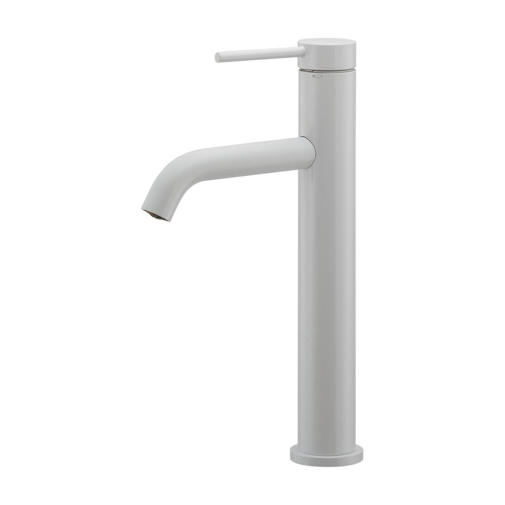 カクダイ【183-225-W】シングルレバー混合栓(ミドル) ホワイト 洗面