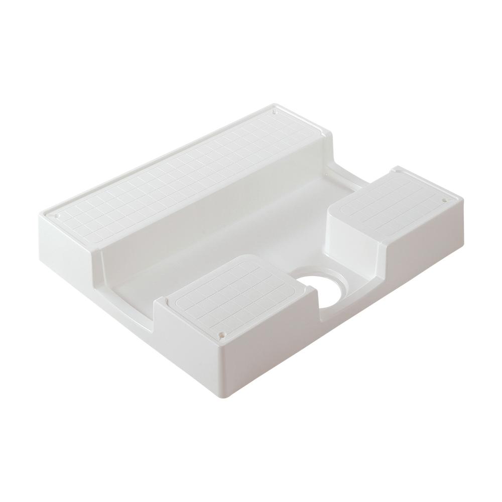 カクダイ【426-410-W】洗濯機用防水パン ホワイト