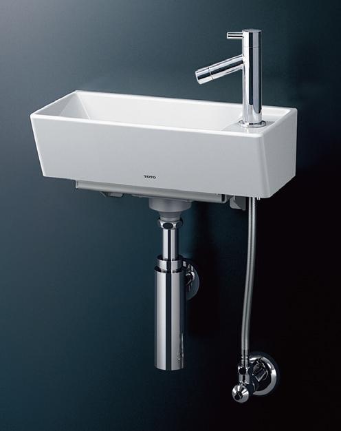 ###TOTO【LSH50AB】壁掛手洗器(角形) 立水栓セット ボトルトラップ(壁給水 壁排水)