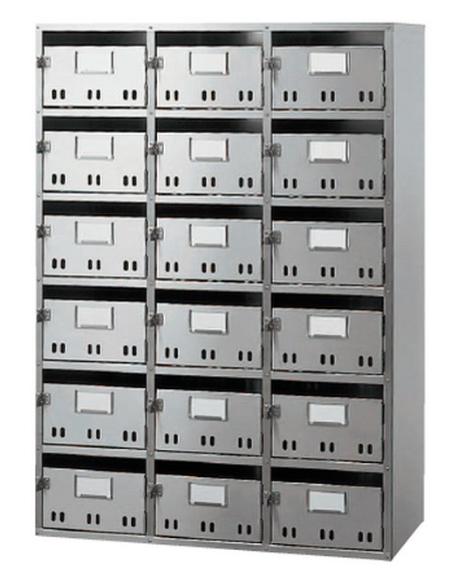 ####u.神栄ホームクリエイト【SK-118HBL】郵便受箱 BL集合郵便受箱(SH型) BL商品 18戸用 6段3列