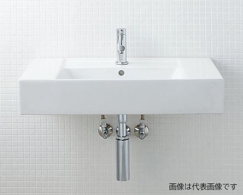 INAX/LIXIL サティス洗面器【YL-A558TA(C)】壁付式 単水栓 壁給水 床排水(Sトラップ)