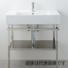 偉大な INAX/LIXIL サティス洗面器【YL-D558ETB(C)】メタルフレームセット 単水栓 床給水 床排水(Sトラップ), 葵屋本舗 4221aa02