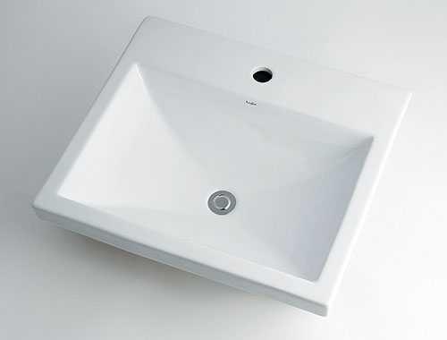 カクダイ【493-003】角型洗面器//1ホール