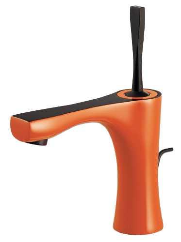【半額】 カクダイ【183-230-YR】シングルレバー混合栓(オレンジ):あいあいショップさくら-DIY・工具