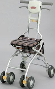 ###アロン化成 安寿【532-352】シルバーカー(歩行補助車) サンフィール (ウォーキング) 青チェック