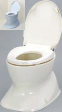 ###アロン化成 安寿【534-123】腰掛便座 簡易設置型洋式トイレ サニタリエースHG 据置式 アイボリー