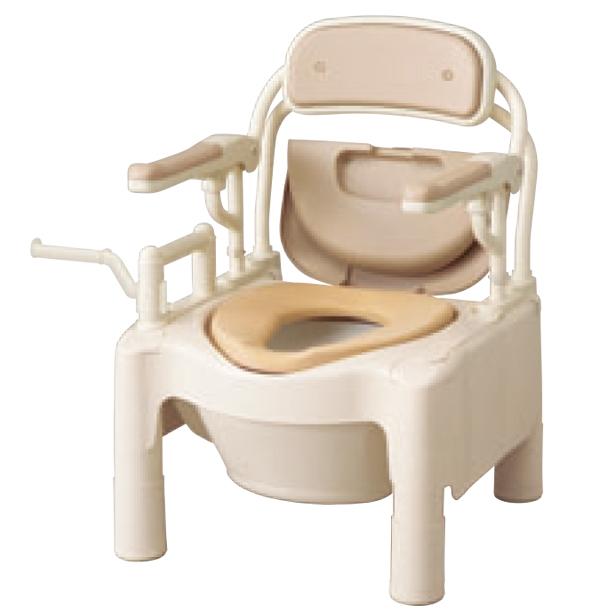 ###アロン化成 安寿【534-510】腰掛便座 ポータブルトイレ FX-CPSハネアゲ ちびくまくん ソフト便座 ノーマルタイプ
