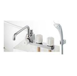三栄水栓/SANEI 混合水栓【SK71041KL-LH-13】ツーバルブデッキシャワー混合栓 (一時止水) 寒冷地