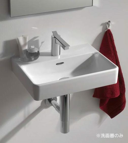 三栄水栓/SANEI【SL810963-W-104】洗面器 壁付タイプ 水栓取付穴ワンホールタイプ オーバーフロー付 Laufen pro S