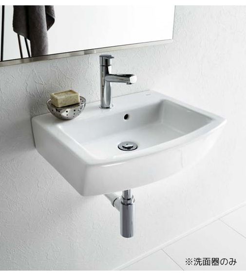 >三栄水栓/SANEI【SR327624-W】洗面器 壁付・カウンター両対応 埋込用型紙付 水栓取付穴ワンホールタイプ オーバーフロー付 Roca Hall