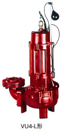 川本 汚物水中ポンプ 4極 60Hz【VU4-806-3.7L】フランジタイプ 三相200V 3.7kW 自動型 VU4形 ボルテックスタイプ