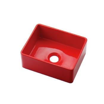 カクダイ【493-174-R】角型手洗器(レッド)