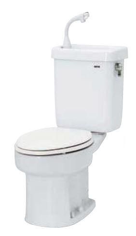 ###ネポン 簡易水栓便器【ATW-629BNG】ホワイト プリティーナ レギュラーサイズ 便座無 線上ガン・紙巻器・手洗栓付 オートフラッパー方式