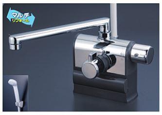 KVK 水栓金具【KF3008RR2】デッキ型サーモスタット式シャワー 可変ピッチ 右ハンドル仕様