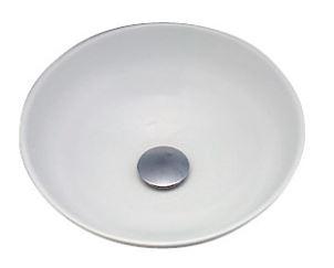 ≧KVK 洗面器【KV48A】美術工芸手洗鉢 天草陶石 白磁/プレーン