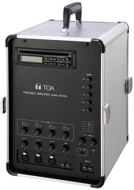 Яティーオーエー/TOA 音響機器【KZ-65A】移動用PAアンプ 65W×2ch CD付