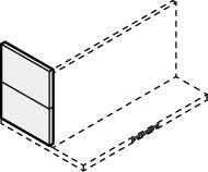 ###サンウェーブ/LIXIL レンジフード 部材【RSP-A-3550ASI】シルバー スライド金属幕板 スライド横幕板 調節範囲350~500mm