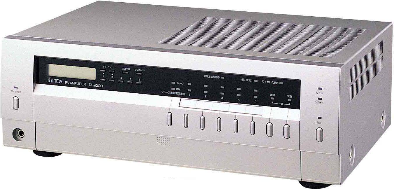 Яティーオーエー/TOA 音響機器【TA-2060R】卓上型アンプ 60W 5局スピーカーセレクター ラジオ付