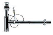≧KVK 排水金具【VR701PA-W】壁排水ボトルトラップ φ41用 オーバーフロー付