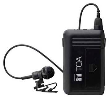 Яティーオーエー/TOA 音響機器【WM-1320】ワイヤレスマイク タイピン型 PLLシンセサイザー方式 抗菌