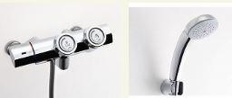▽INAX【BF-HW156TSC】シャワーバス水栓 サーモスタット 一般水栓(プッシュ式)エコフルスプレーシャワー(メッキ仕様)逆止弁