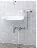 ▽INAX/LIXIL【L-125/BW1】ハイパーキラミック手術用手洗器寸法:670×530※洗面器のみ