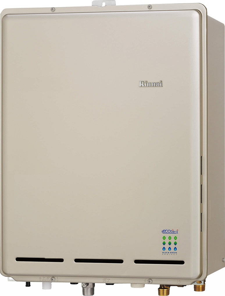 リンナイ ガスふろ給湯器【RUF-E2405AB(A)】PS扉内後方排気型 24号 ecoジョーズ ユッコUF 給湯・給水接続20A 設置フリータイプ フルオート