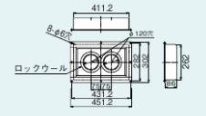 リンナイ【FFT-DKC-10】給排気筒トップ断熱化粧カバー