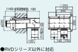 リンナイ【FFTL-10-400C】φ100 2本管直出給排気筒トップ