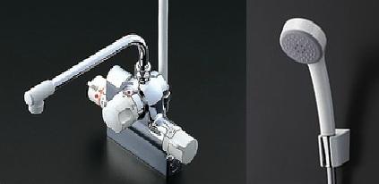 TOTO 水栓金具【TMJ48EZ】 サーモスタットシャワー金具 台付きタイプ 自動水止め(定量止水) 寒冷地仕様(旧品番TMJ48CRKX)