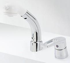 KVK【KM8029ZT】シングルレバー式洗髪シャワー 寒冷地用